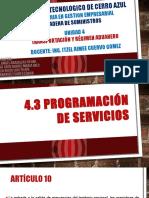 4.3 y 4.4 Transportacion y Regimen Aduanero