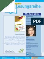 Maria Soulas liest in der Stuttgarter Lesereihe