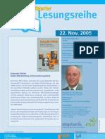Karl-Heinz Meier-Braun liest in der Stuttgarter Lesereihe