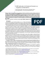 Preguntas Tipo CLOZE Aplicadas a La Evaluación Formativa en Asignaturas Matemáticas..Docx
