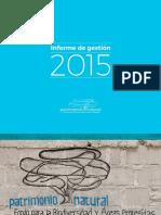 Patrimonio Natural_Informe de Gestión 2015