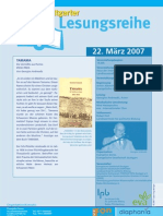 Georgios Andreadis liest in der Stuttgarter Lesereihe