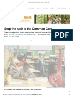 u2l6a4 - stop the rush to the common core - ny daily news