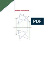 Intersección de Dos Triángulos en Diédrico
