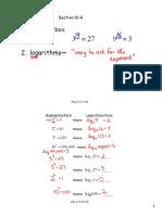 Alg. II-9 Notes May 10