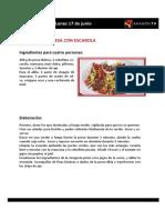 Las Recetas de La Pera Limonera_2013 del  17 Al 21 de Junio