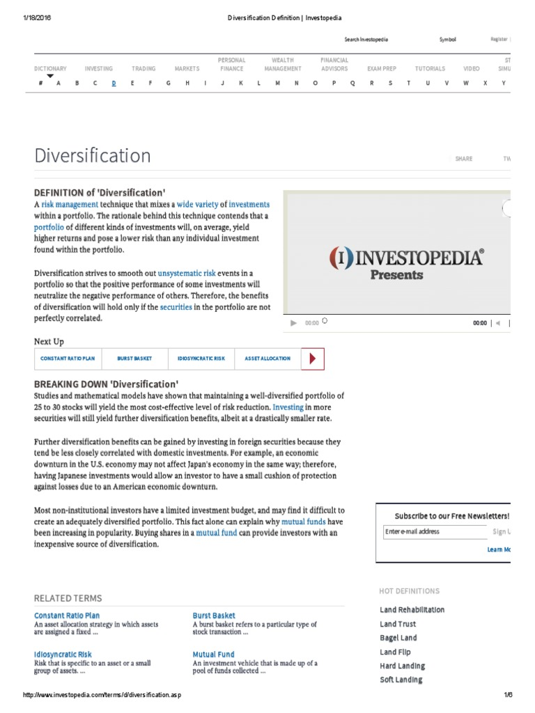 diversification definition _ investopedia.pdf | diversification