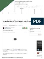 Fix Blue Screen of Death(BSOD) in Windows 7 - Windows 7 - Windows 7