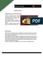 Las Recetas de La Pera Limonera_2013 del 27 Al 31 de Mayo