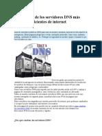 Direcciones de los servidores DNS más rápidos y eficientes de internet.docx