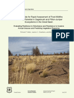 Field guide for rapid assessment of post-wildfire recovery potential in sagebrush and PJ ecosystems in the Great Basin - Evaluating resilience to disturbance and resistance to invasives