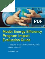Model Energy Efficiency Program Impact Evaluation Guide