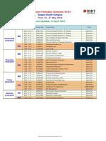 Exam Timetable (SGS) - 2016-1
