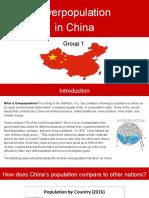overpopulatiin china