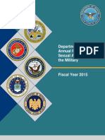 FY15 Annual Report on Sexual Assault in the Military