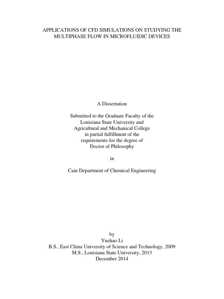 Phd thesis fluid dynamics