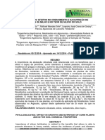 Filossilicatos - Efeitos No Crescimento e Na Nutrição de Plantas de Milho e No Teor de Silício Do Solo