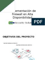 Implementación de Firewall en Alta Disponibilidad
