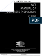 Aci Manual of Concrete Inspection Sp2