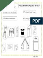 Pets&Prepositions Worksheet 2nd Grade