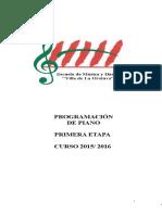 1.Prog.piano 1ª Etapa y Colectiva 1ª Etapa 2015-2016