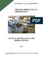 Manual de Laboratorio de Irrigaciones 2015