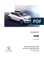 Peugeot 108 Prices and Specifications Brochure
