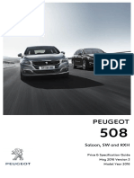 Peugeot 508 Prices and Specifications Brochure