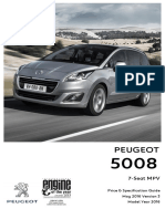 Peugeot 5008 Prices and Specifications Brochure