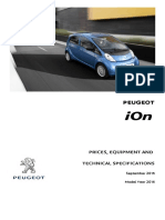Peugeot Ion Prices and Specifications Brochure