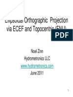 Ellipsoidal Orthographic Projection pdf | Latitude | Longitude