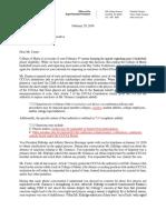 CCCAA Letter Granucci Sanctions 2-29-2016 Docx