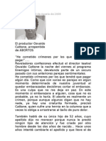 OSWALDO CATTONE -ABORTOS