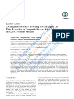 A Comparative Study of Recycling of Used Engine Oil Using Extraction by Composite Solvent Single Solvent and Acid Treatmen