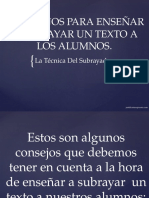 5 CONSEJOS PARA ENSEÑAR A SUBRAYAR UN TEXTO.pptx