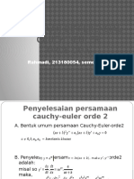 Rahmadi, PD Cauchy Euler
