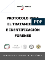 Protocolo Para El Tratamiento e Identificación Forense. de la procuraduria general de la republica de mexico