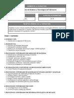 318 Fundamentos de Sistemas y Tecnologias de Fabricacion