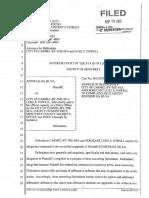 Case No. 132929 09-28-15 City's Answer to Complaint
