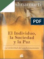 El Individuo, La Sociedad y La Paz - Jiddu Krishnamurti