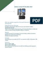 Características de Teléfono Celular HTC Excalibur S621