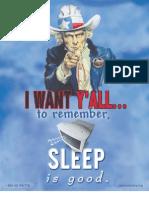 Sleep is Good ~ Watt Watchers
