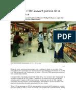 Aumento de ITBIS Elevará Precios de La Canasta Básica