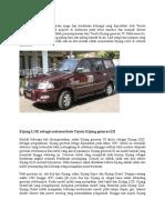Kijang LGX Adalah Kendaraan Niaga Dan Kendaraan Keluarga Yang Diproduksi Oleh Toyota Motor