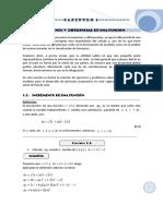 Calculo Integral Capitulo 1 - El Incremento y Diferencial de Una Funcion