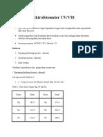Kalibrasi Spektrofotometer UV