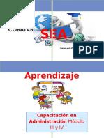 Uia de Aprendizaje Administracion Submodulo III y IV