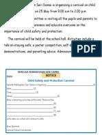 Writing Notice
