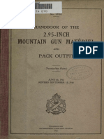 (1917) (No.1761) Handbook of the 2.95-Inch Mountain Gun Matériel and Pack Outfit
