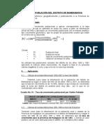 Estudio de Población Del Distrito de Bambamarca